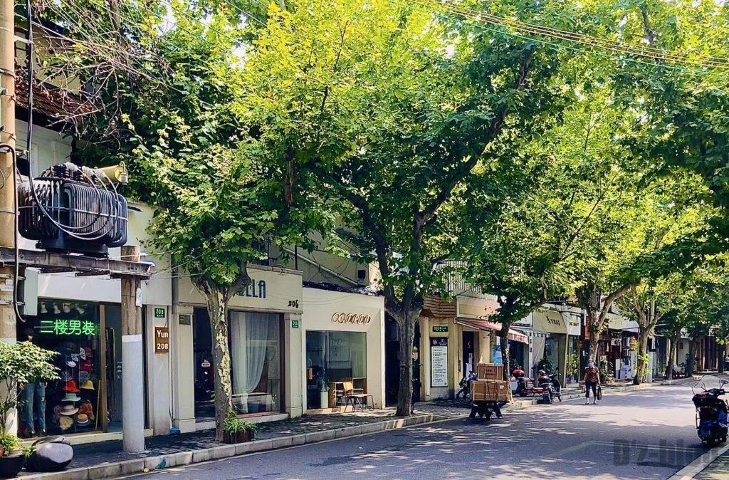 上海コーヒー店付近
