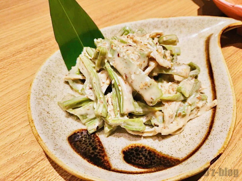 上海彩羽鶏ささみの胡麻和え