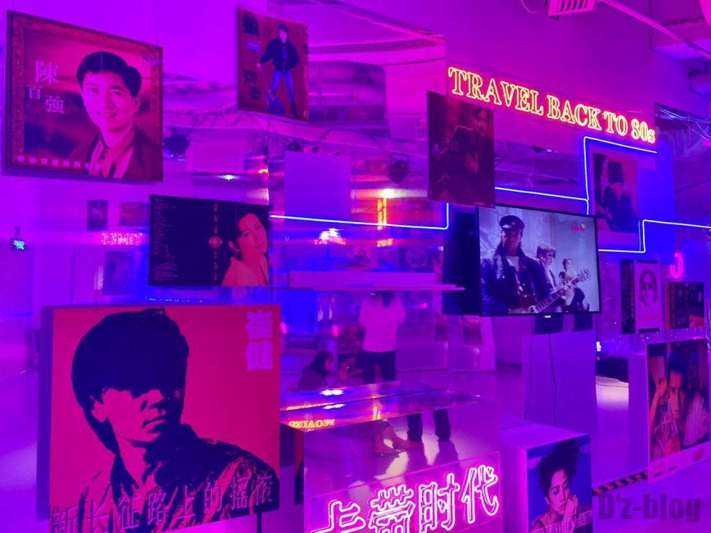 上海80年代博物歌手ポスターアップ