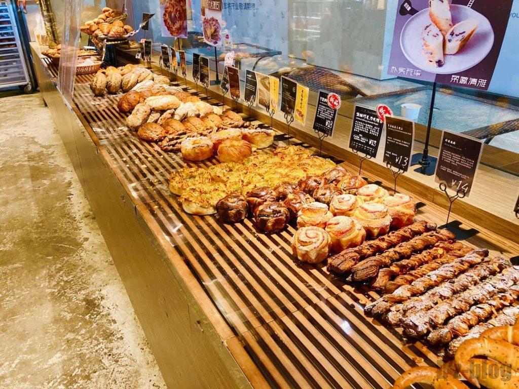 上海ブリアンパン陳列