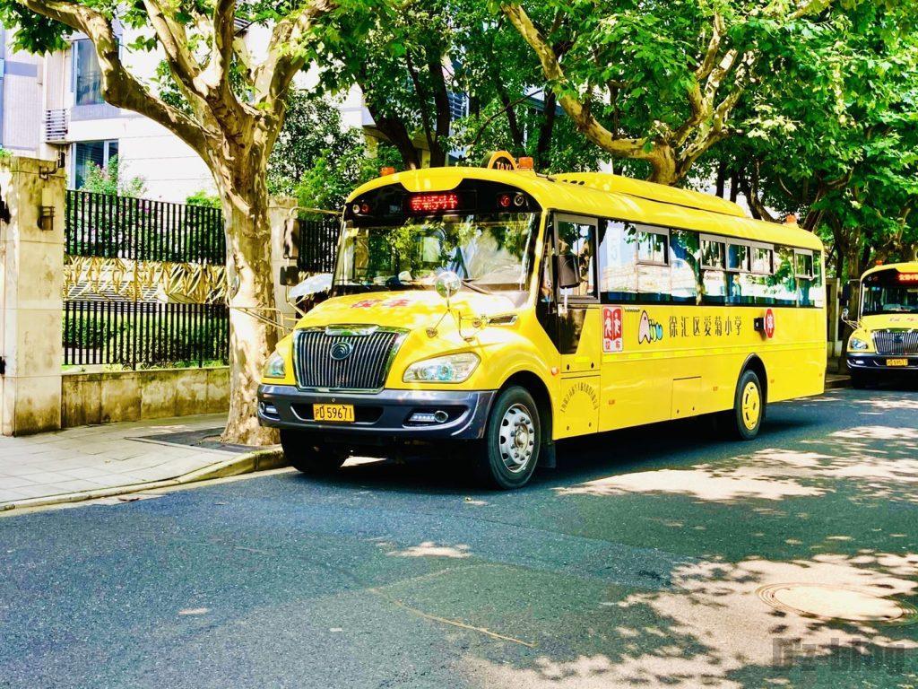 上海安福路幼稚園バス