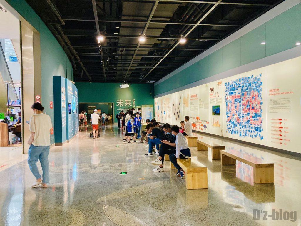 上海自然博物館2階館内