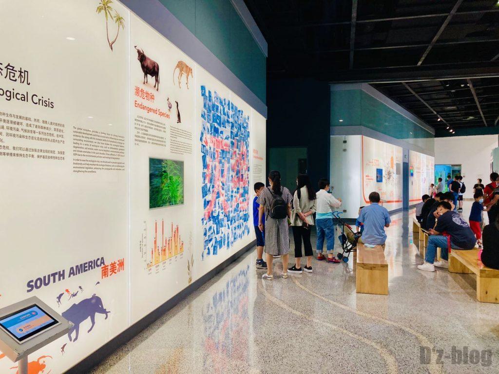 上海自然博物館未来の道絶滅危機種説明2