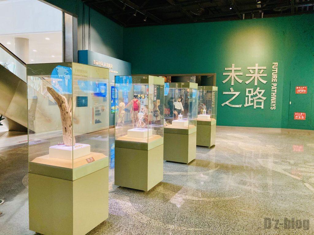 上海自然博物館未来の道展示物2