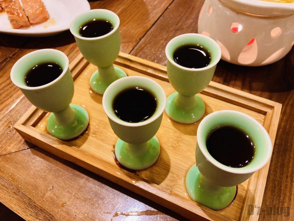 上海孔乙巳紹興酒飲み比べ