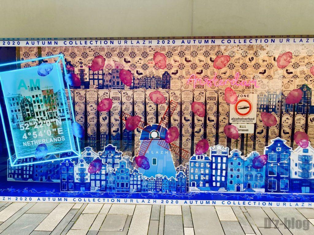 上海幸福里店舗宣伝ディスプレイ