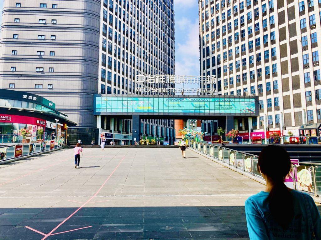 上海南翔駅出口
