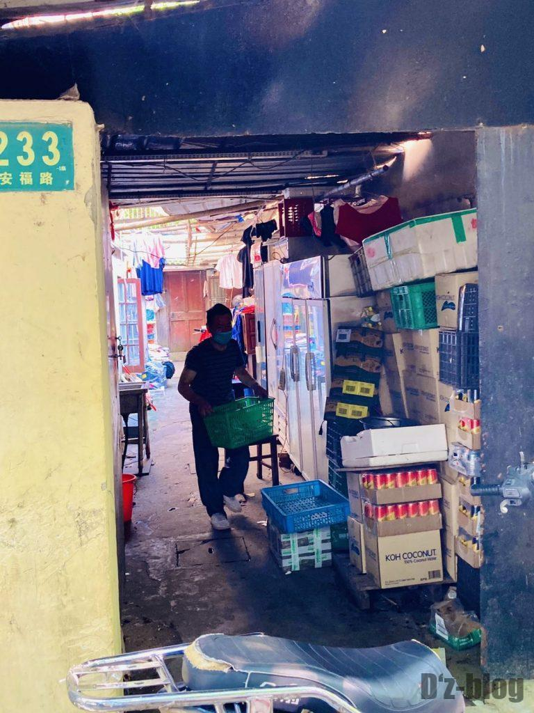上海安福路ローカル店の裏