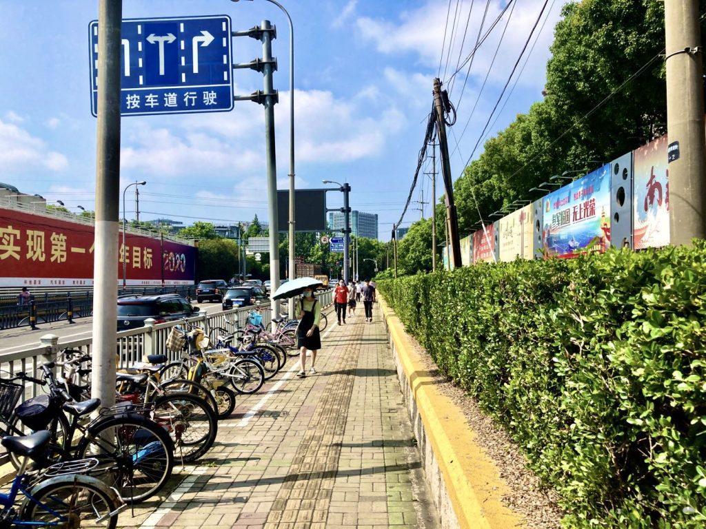 上海南翔までの道中