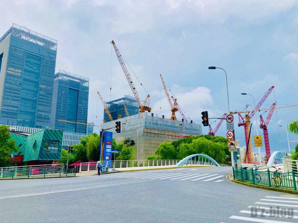 上海锦康路建設工事中