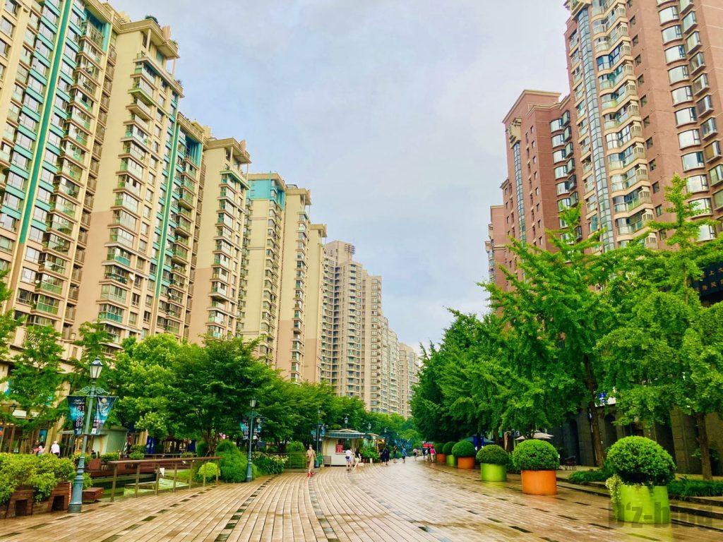 上海黄金城道街のマンション