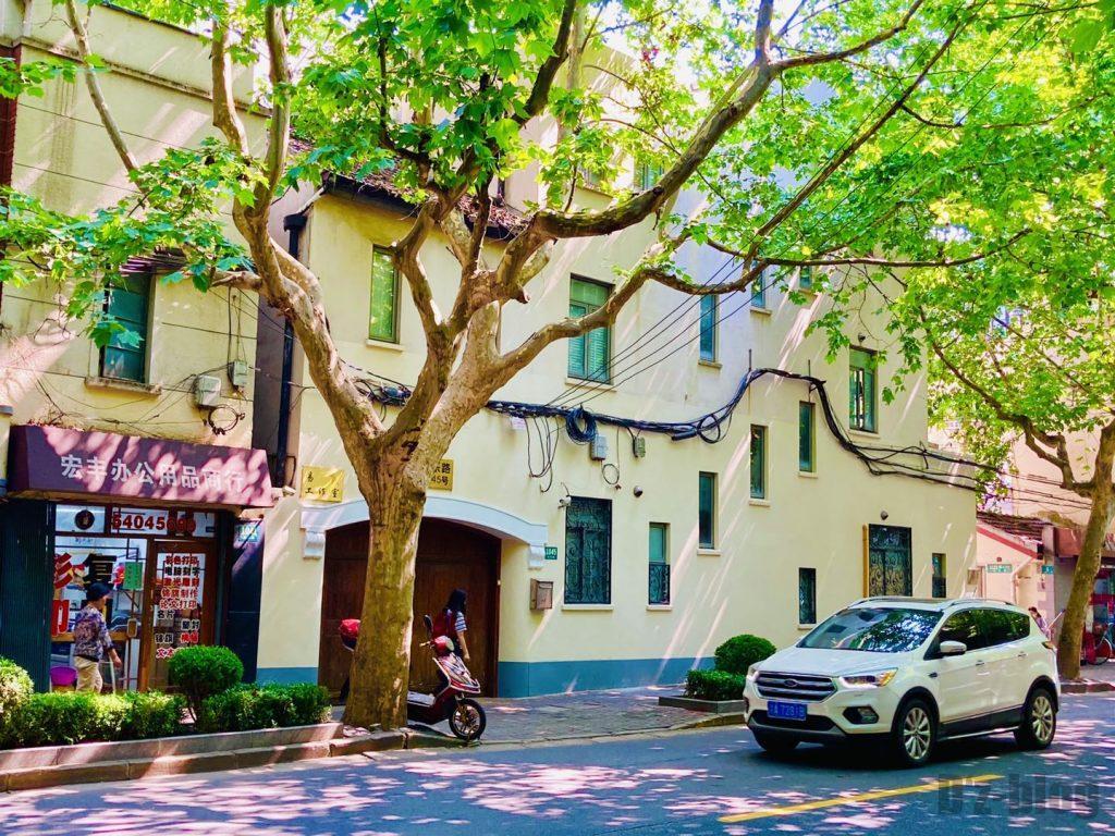 上海安福路並木道の建物