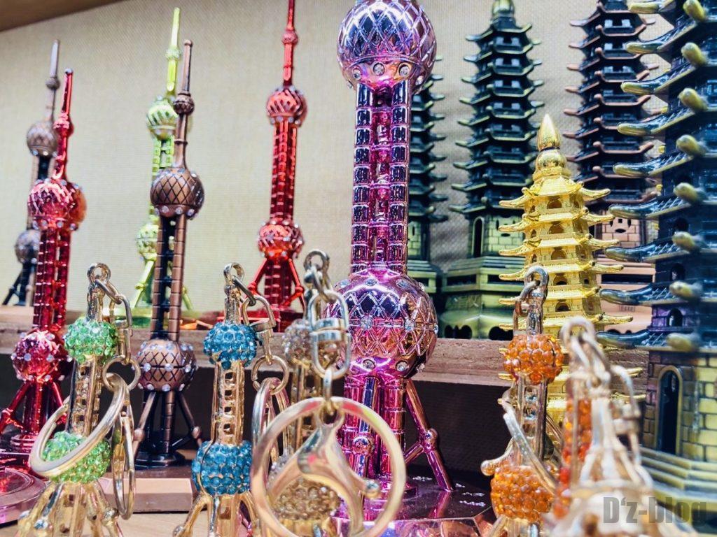 上海豫园上海テレビタワー模型