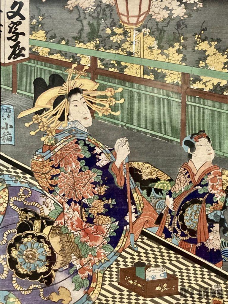 上海浮世絵女性と子供