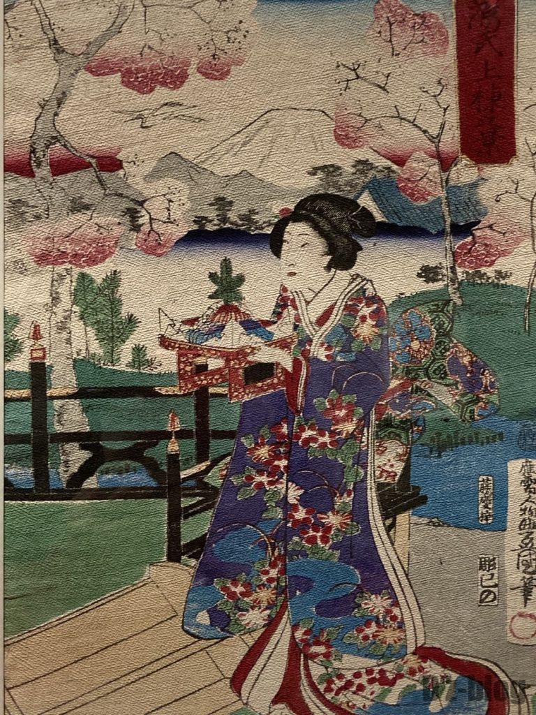 上海浮世絵桜の下