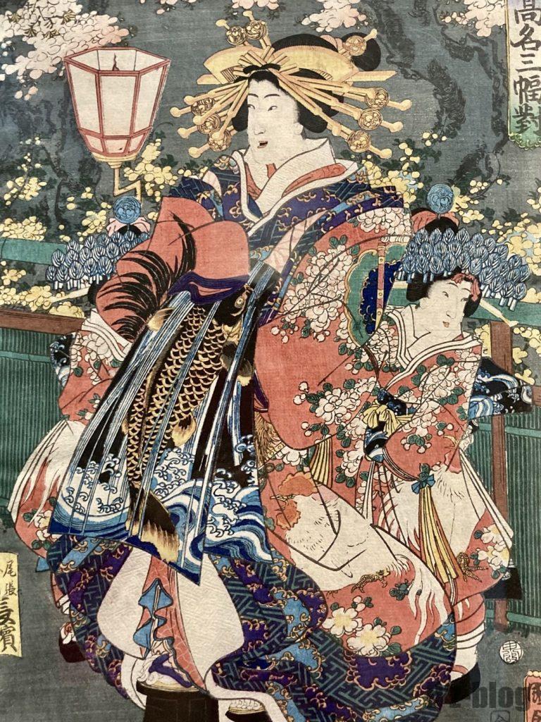 上海浮世絵女性2人