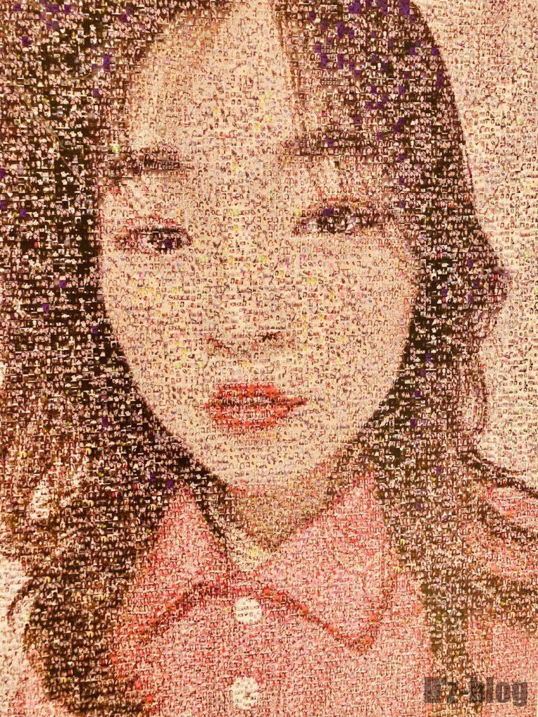 上海失恋博物館カップルたちの写真で作られた女性の絵