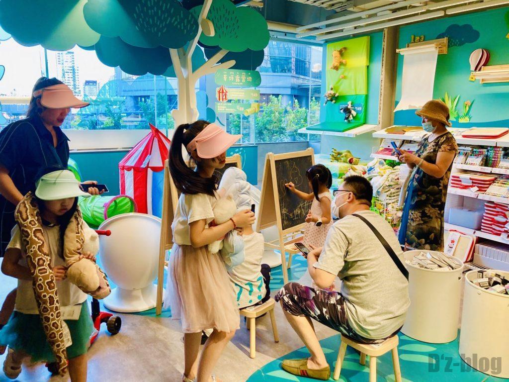 上海IKEA CITY 子供エリアお絵かき