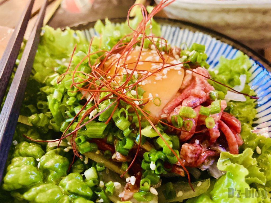 上海舌助 牛肉ユッケ
