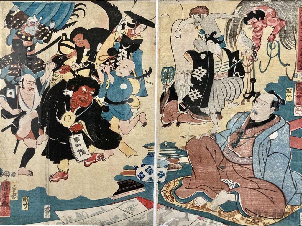 上海浮世絵想像をする男性