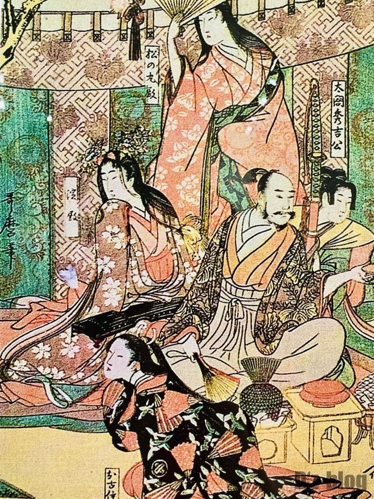 上海浮世絵男性貴族と女性たち