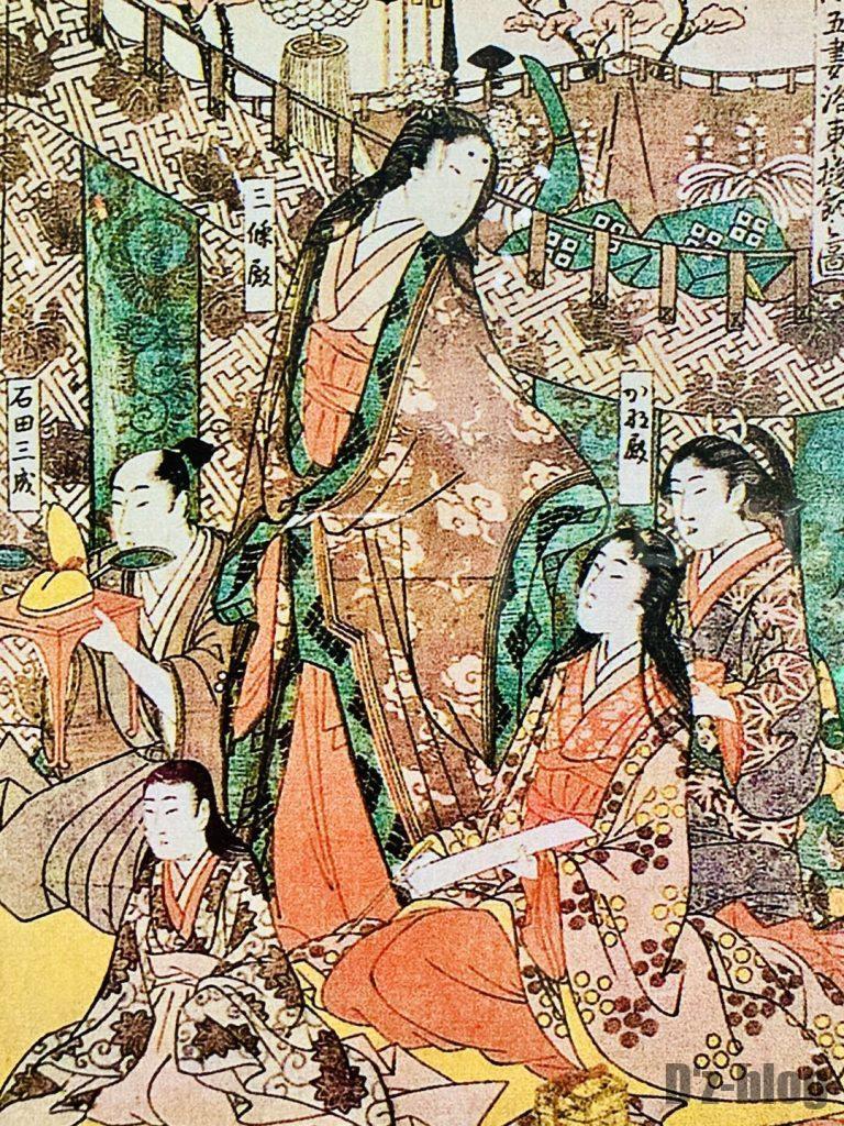 上海浮世絵女性貴族詩