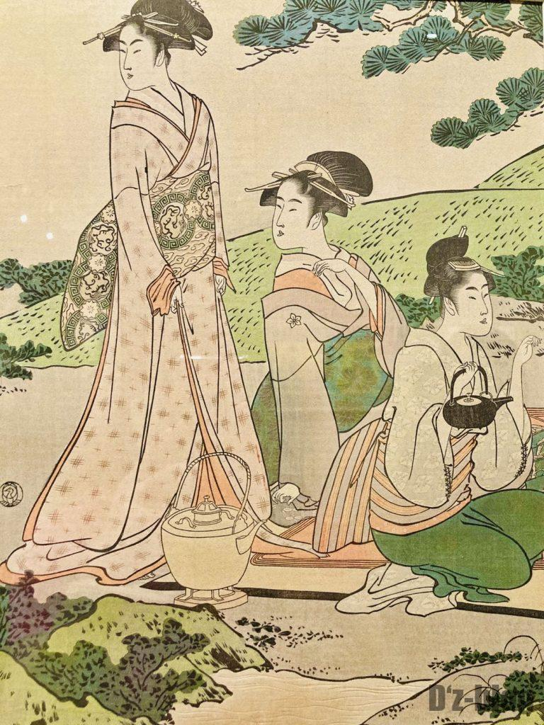 上海浮世絵茶を入れる女性