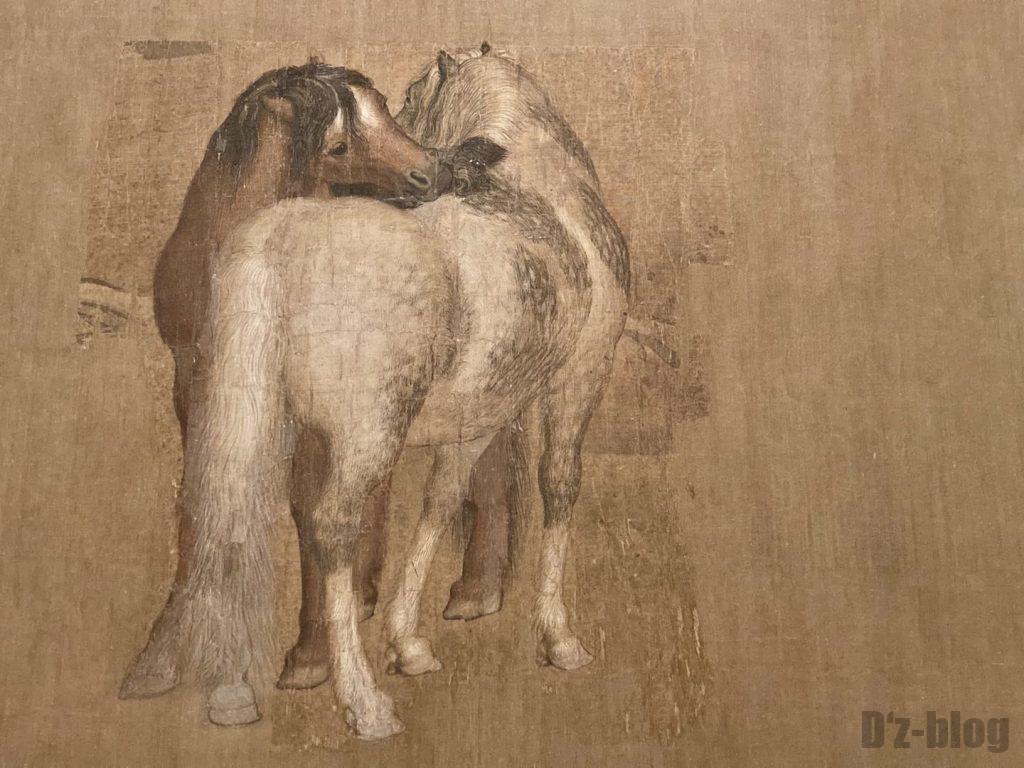 上海博物館絵画馬二頭