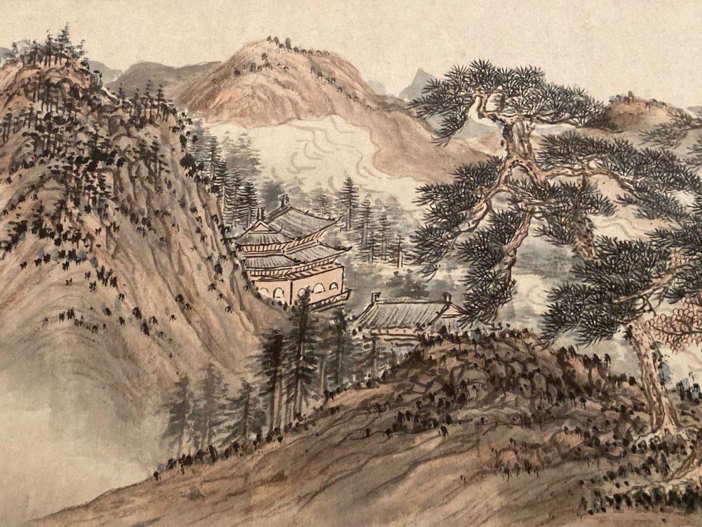 上海博物館巻絵山2