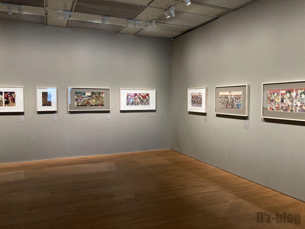上海浮世絵横長の絵展示