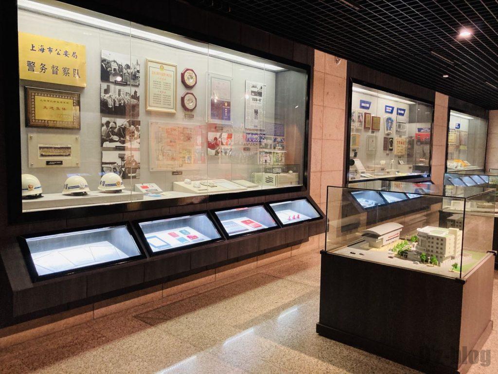 上海公安博物館 警部督察隊展示