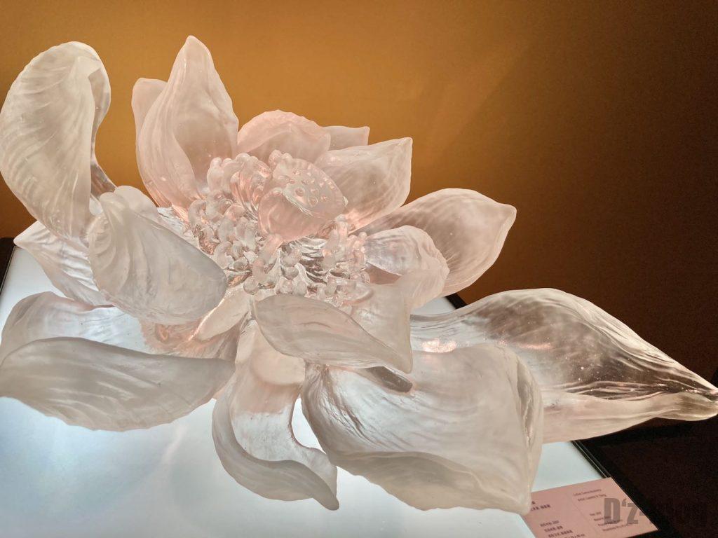 上海琉璃芸術博物館透明のガラス花