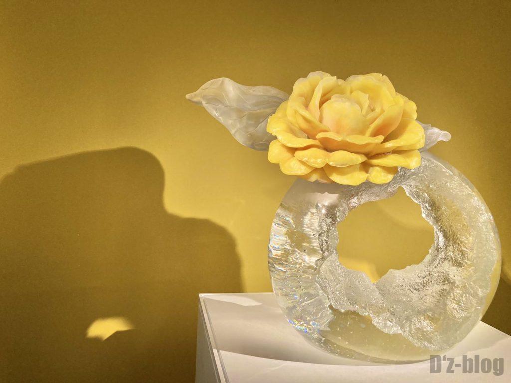 上海琉璃芸術博物館ガラス花黄色