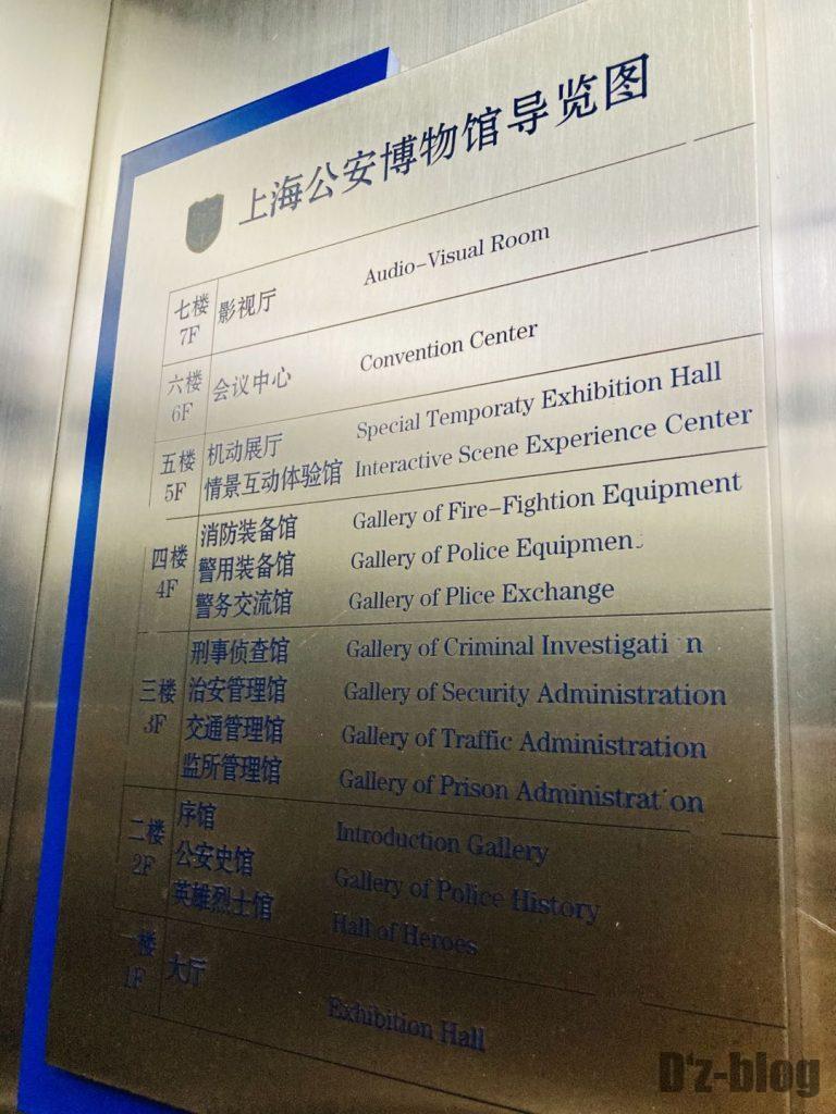 上海公安博物館 館内案内図