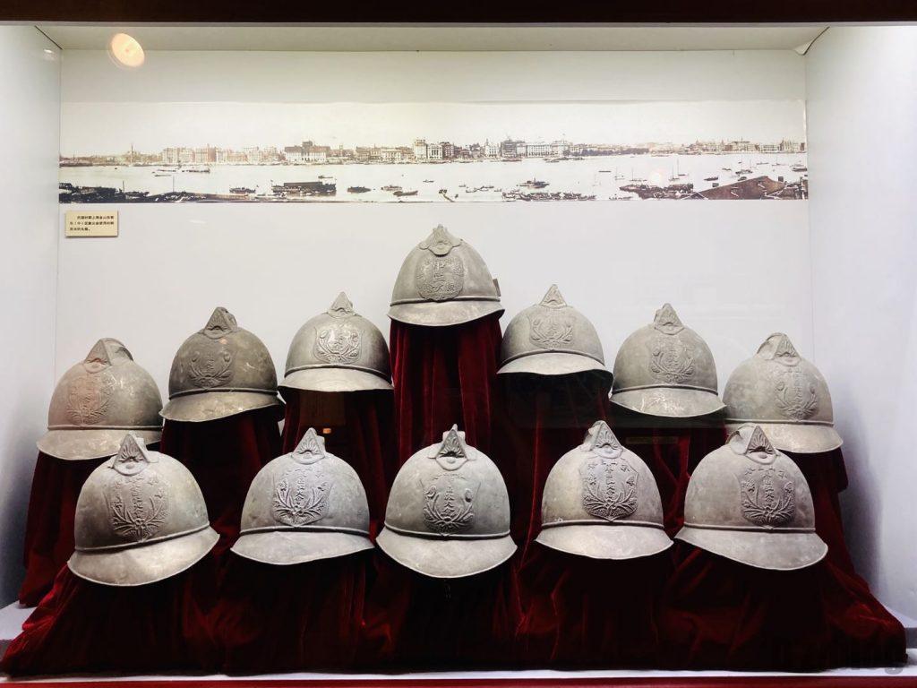 上海公安博物館 消防隊帽子