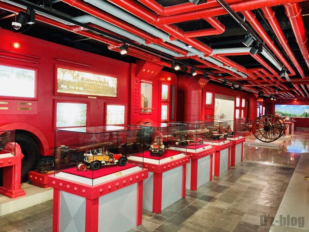 上海公安博物館 消防展示