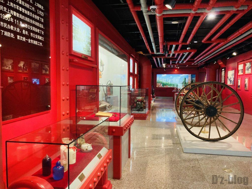 上海公安博物館 消防展示全体