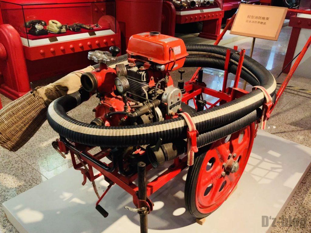 上海公安博物館 日本からの消防機器