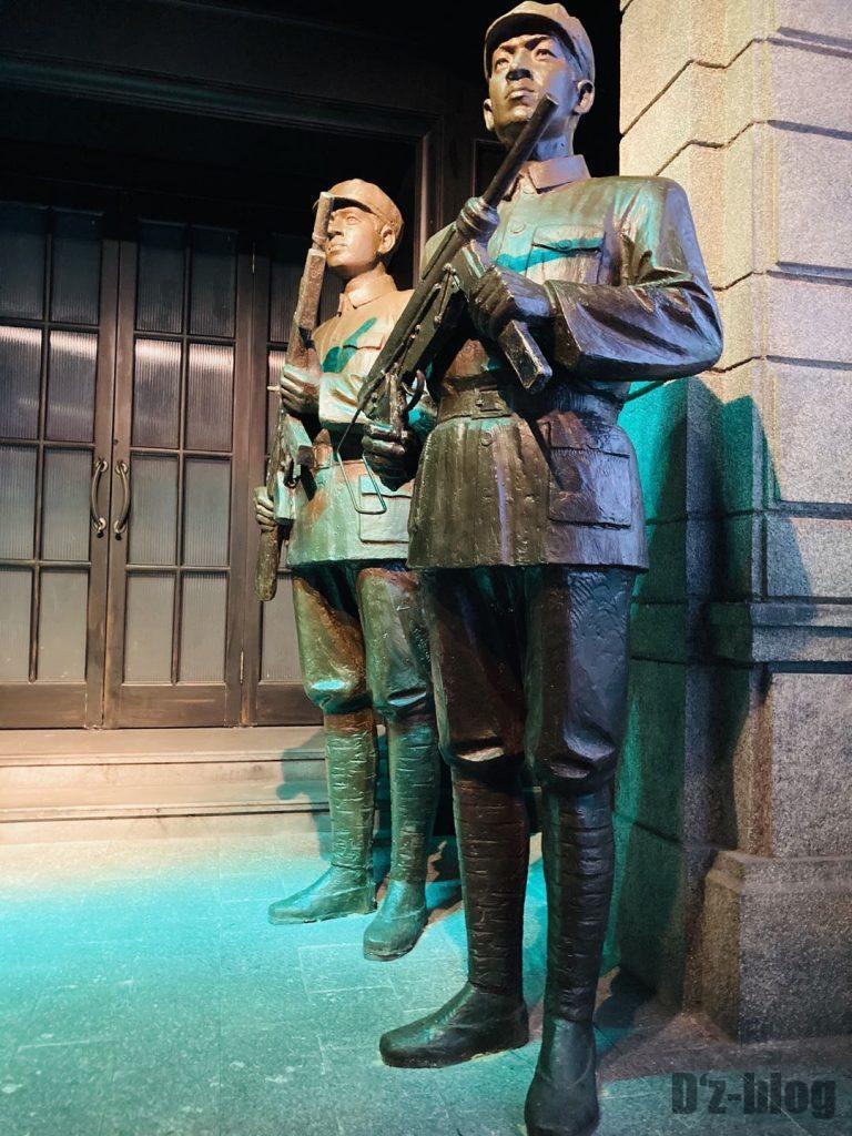 上海映画博物館銅像兵隊