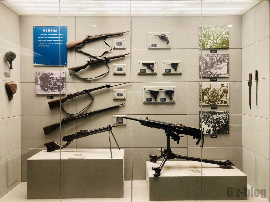 上海公安博物館 日本の銃展示