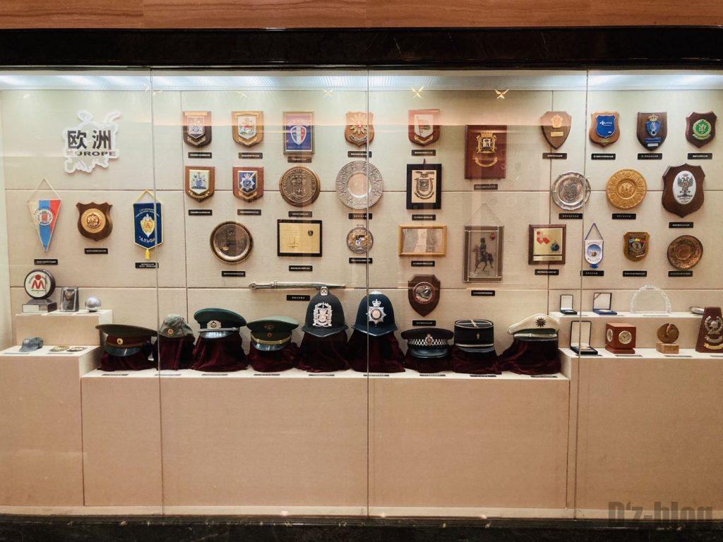 上海公安博物館 欧州の警察部隊道具