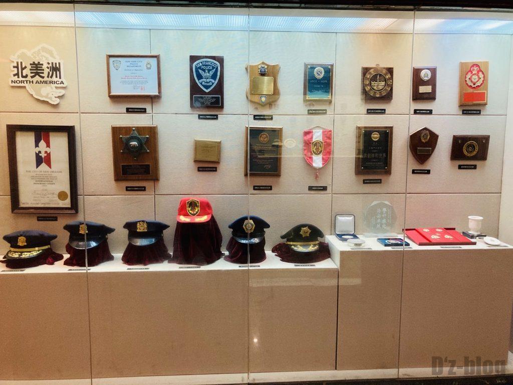 上海公安博物館 北アメリカの警察部隊道具