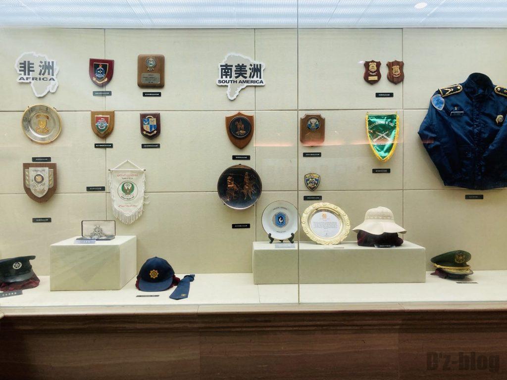 上海公安博物館 アフリカと南アメリカの警部隊道具