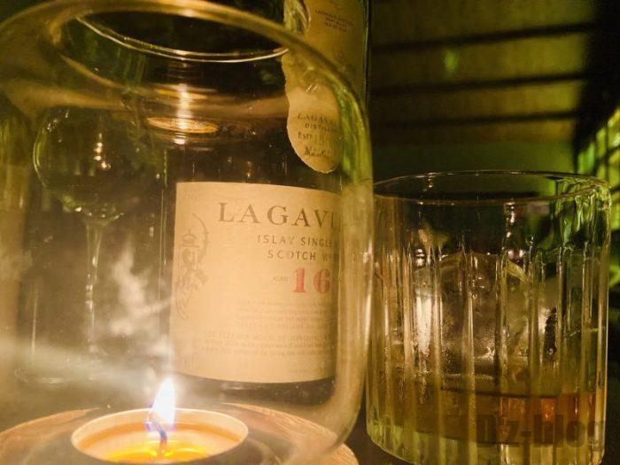上海THE WATER MARGINバー LAGAVULIN16年物