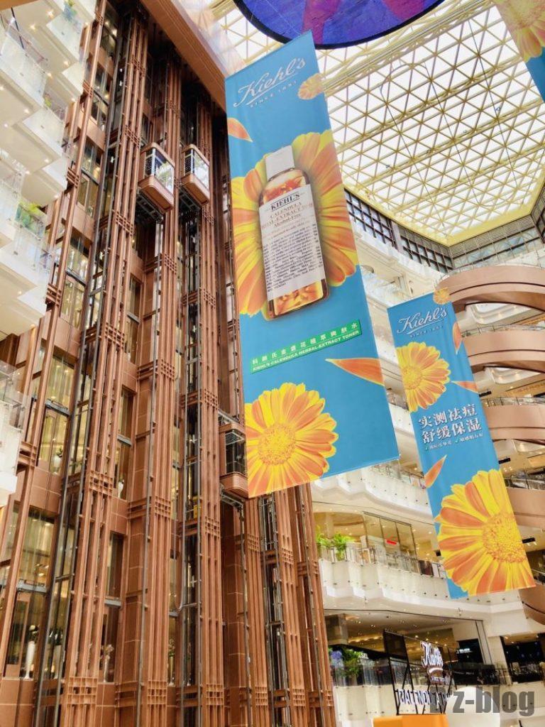 上海新世界大丸百貨店  エスカレーター
