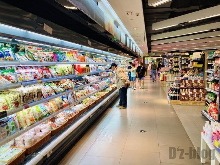 上海新世界大丸百貨店 Ole冷蔵食品売り場