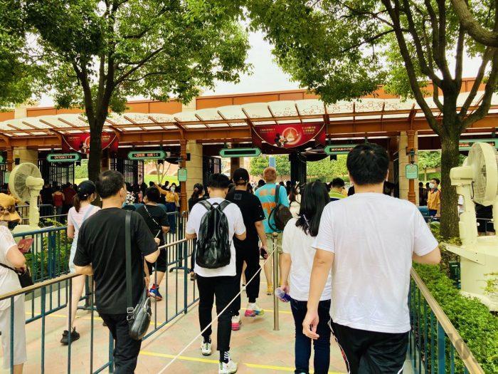上海ディズニー 入場ゲート