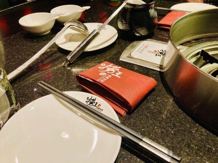 上海捞王 テーブルセット