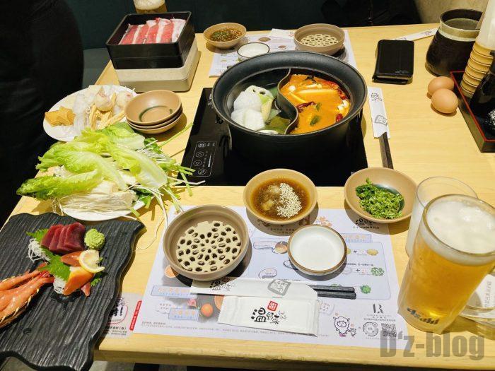 上海しゃぶしゃぶ温野菜 テーブル全体