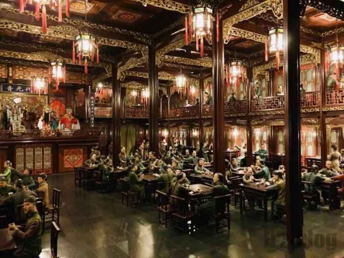 上海城市歴史発展陳列館 貴族の食事光景一部